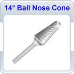 14 Degree Included Ball Nose Cone
